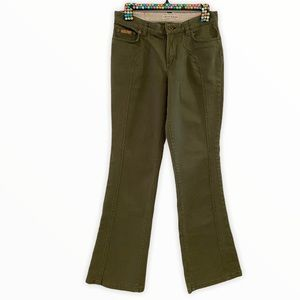 Tommy Jeans Olive Drab Structured Bell-Bottoms